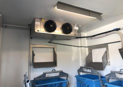 Equipements frigorifique pour chambres déchets
